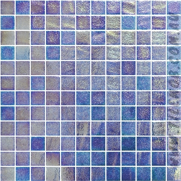 BLUE-GREEN  PEARLESCENT GLASS MOSAIC RIVIERA